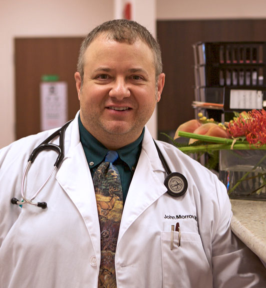 Dr. John Morrow is the primary care physician at Senior LIFE Greensburg.