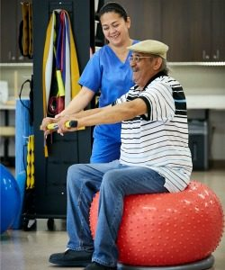 Rehabilitation services are part of the benefits of the LIFE program.