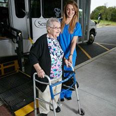 Senior LIFE members have access to door-through-door transportation.