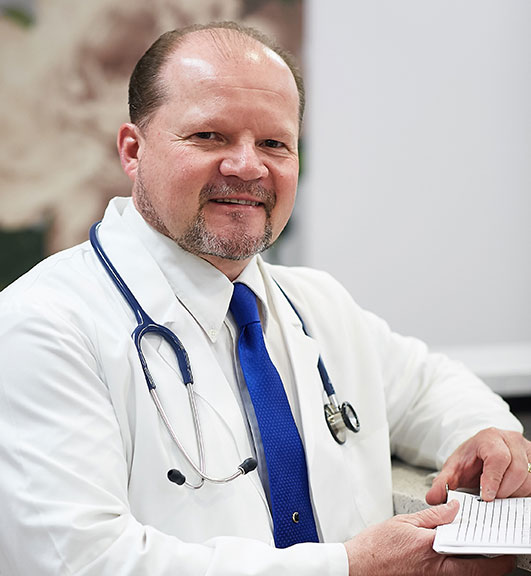Dr. Peter Baddick is the primary care physician at Senior LIFE Lehigh Valley.