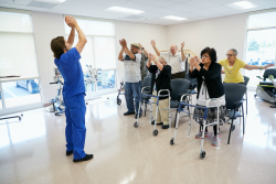 Being active helps promote independence in seniors.